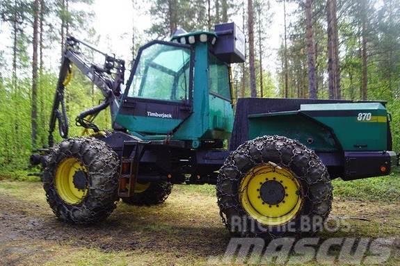 Timberjack 870 Hogstmaskin SE VIDEO