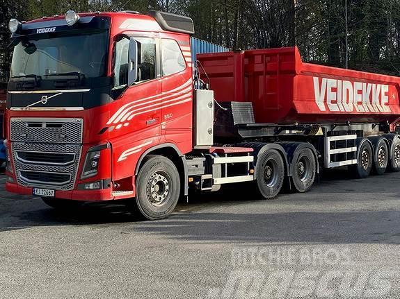 Volvo FH 650 tandemtrekker med Sørling tippsemi