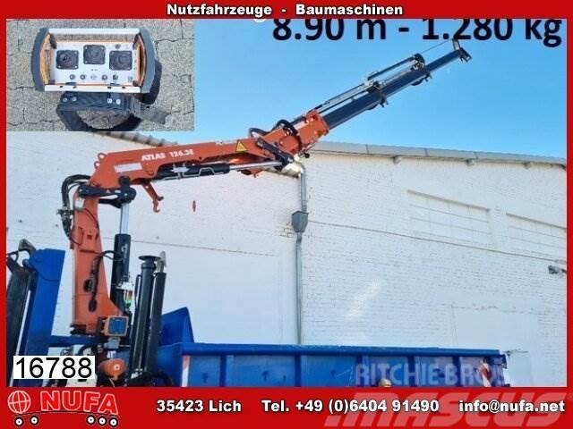 Atlas Abrollcontainer AG 3 Kran Atlas126.3 E - 9,0, 8,9m