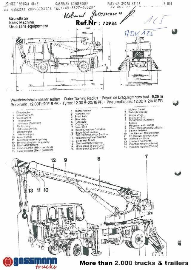 Babelsberg Masch-Bau ADK / 125-2 4x4 / 4x4, 1979, Kranbilar