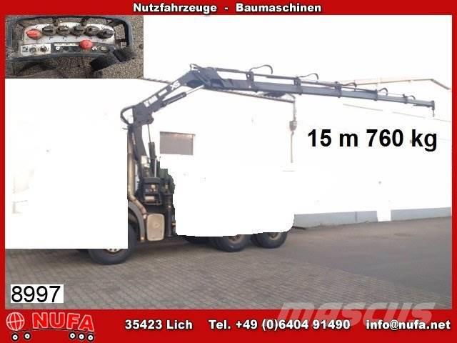 Hiab 166E-5 Duo, 15m - 760, hydr, Funk