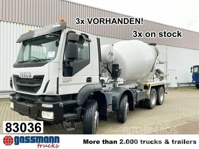 Iveco Trakker AD340T40B 8x4 Stetter 9m³, Rechtslenker,