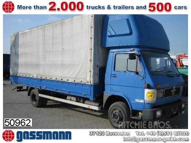 MAN L04 / 10.150 4x2 / 4x2, 1991, Camiones de caja de lona