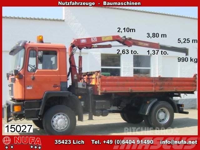 MAN M08 17.222 4x4 mit Kran HMF 623 K1 B3