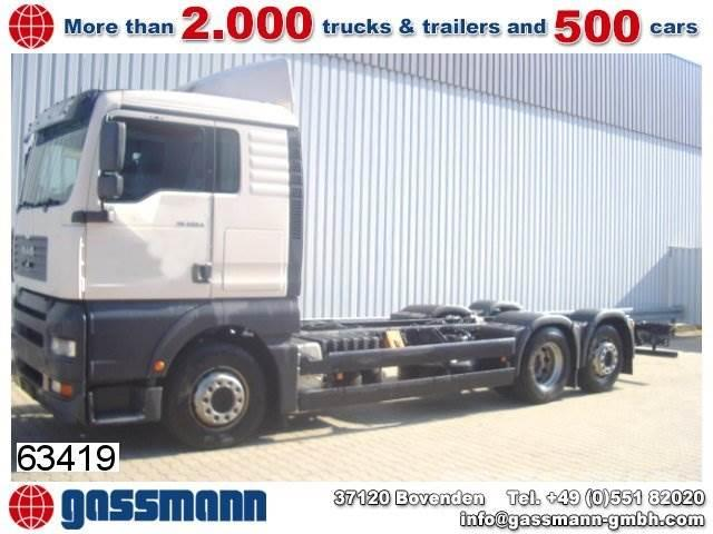 MAN TGA / 460 6x2 / 6x2 Autom./Sitzhzg./Klima/NSW, 2001, Camiones con chasís y cabina