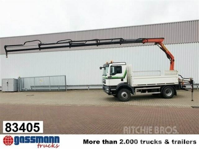 MAN TGM 13.290 4x4 BL, Heckkran Palfinger PK 7501,