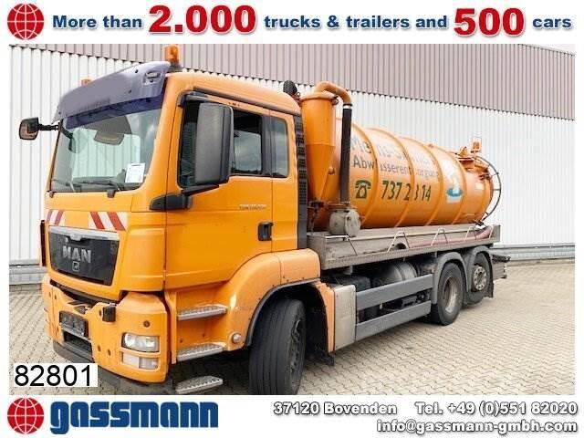 MAN TGS 26.320 6x2-4 BL, Saugwagen ca. 14m³,