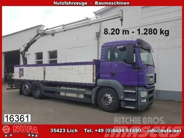 MAN TGS 26.400 6x2-2 LL, Baustoff, Kran Hiab 122B