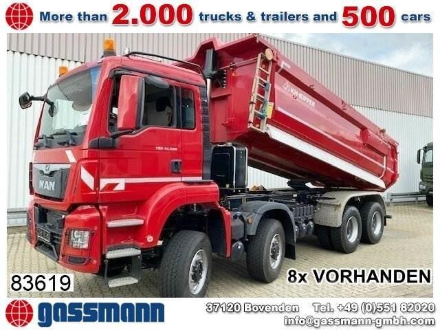 MAN TGS 41.500 8x8 BB, PriTarder, Stahlmulde ca.