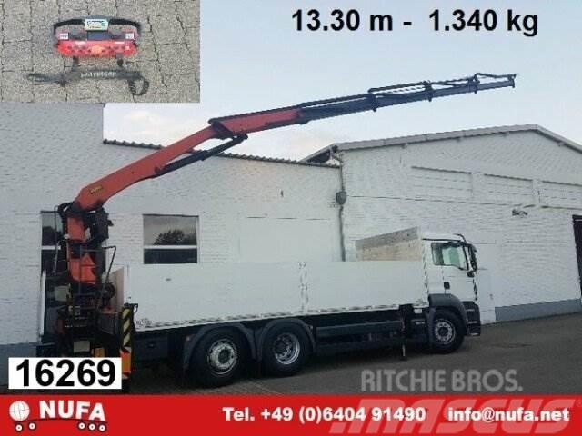 MAN TGS26.360LL 6x2,Baustoff,Kran Palfinger PK24001