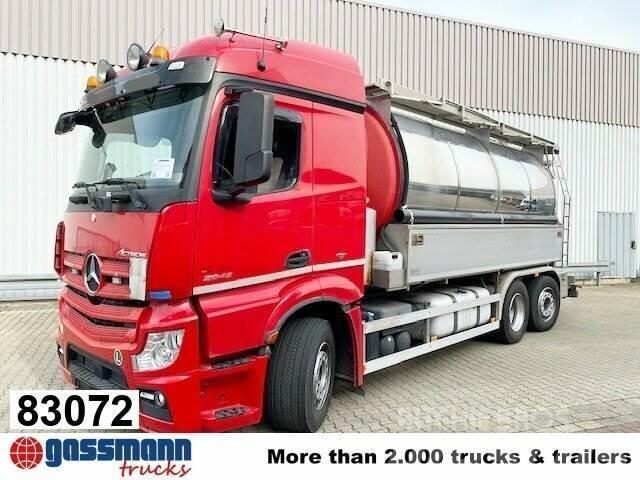 Mercedes-Benz Actros 2545 L 6x2, Chemie Saugwagen 17m³,