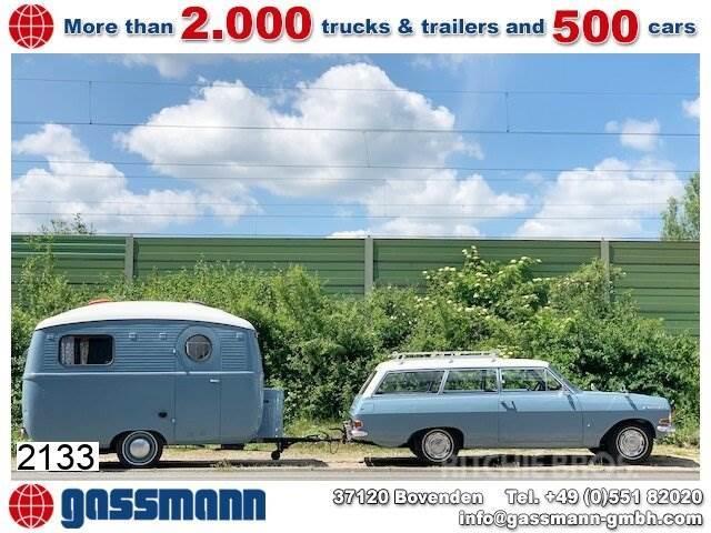 Opel Rekord C2 Caravan 1700 mit Wohnwagen