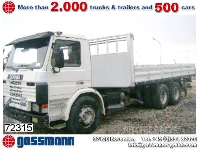 Scania 93P / 280 6x2 / 6x2, 1993, Flakbilar