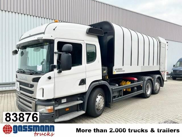 Scania P320 6x2, Lenkachse, FAUN Rotopress 521