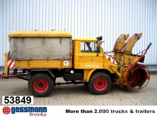 Unimog 30 411 4x4, Schneefräse mit Separatmotor
