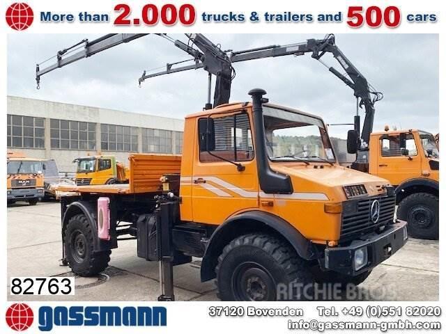 Unimog U 1300 L 4x4 mit Kran MKG HLK 80