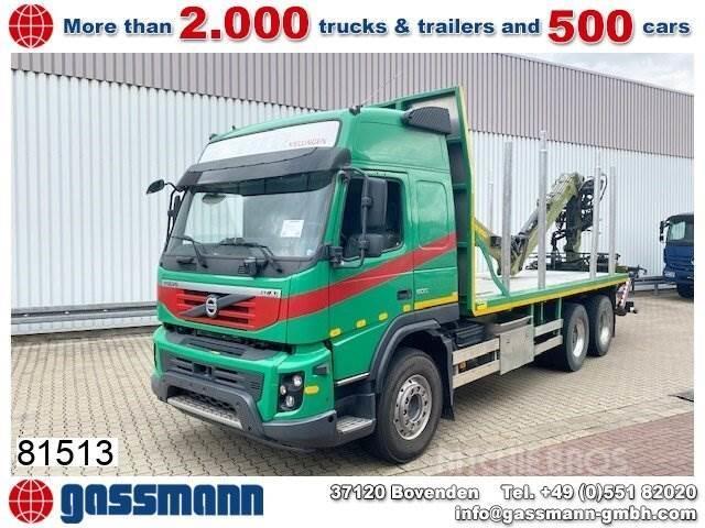 Volvo FMX 500 6x4 Holztransporter, Loglift 120S Bj 2013,