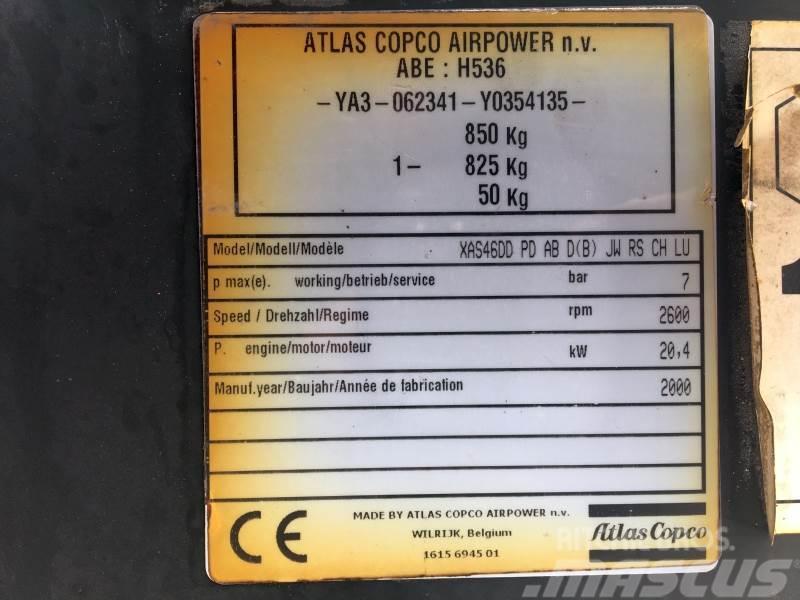 Atlas Copco XAS46DD, 2000, Kompressorer