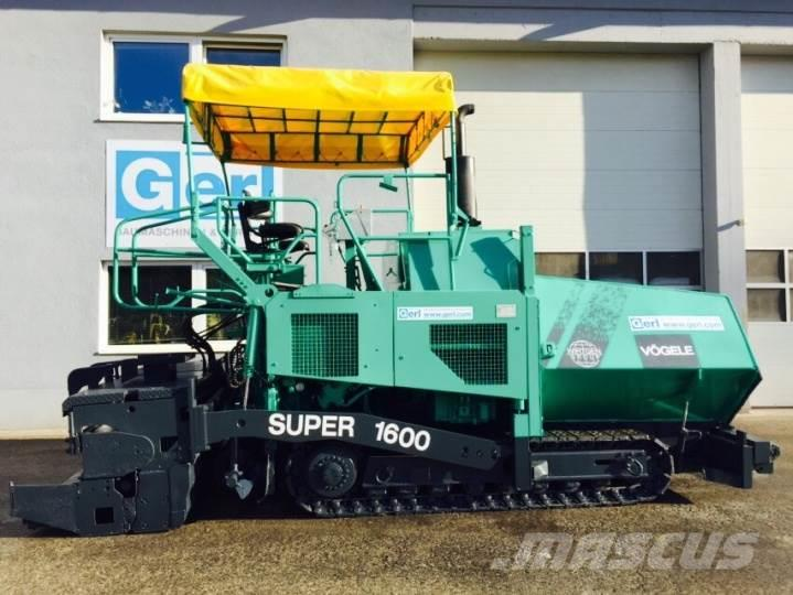 Vögele Super 1600, Typ. 6-82, 2001, Asfaltsläggningsmaskiner