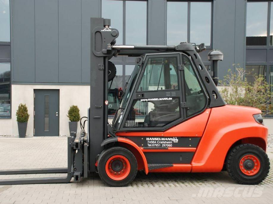 Used Linde H80d-02  900 Diesel Forklifts Year  2015 Price  Us  95 050 For Sale