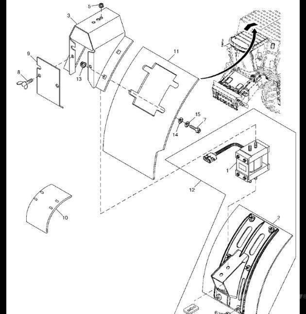 John Deere AH164288 - Moduł czuj.mas.nat.przepł