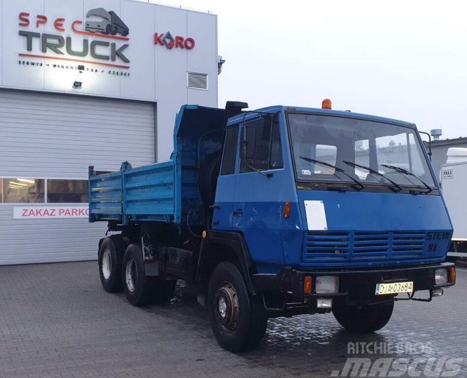 Steyr 1491, Tipper 6x4, Full Steel, big axles ,6 CYLINDE