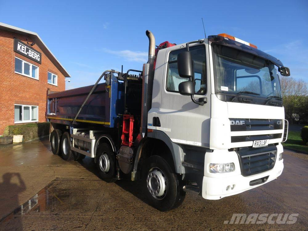 [Other] 2013 DAF CF 410 FAD 8x4 Day cab Grab loader Thomps