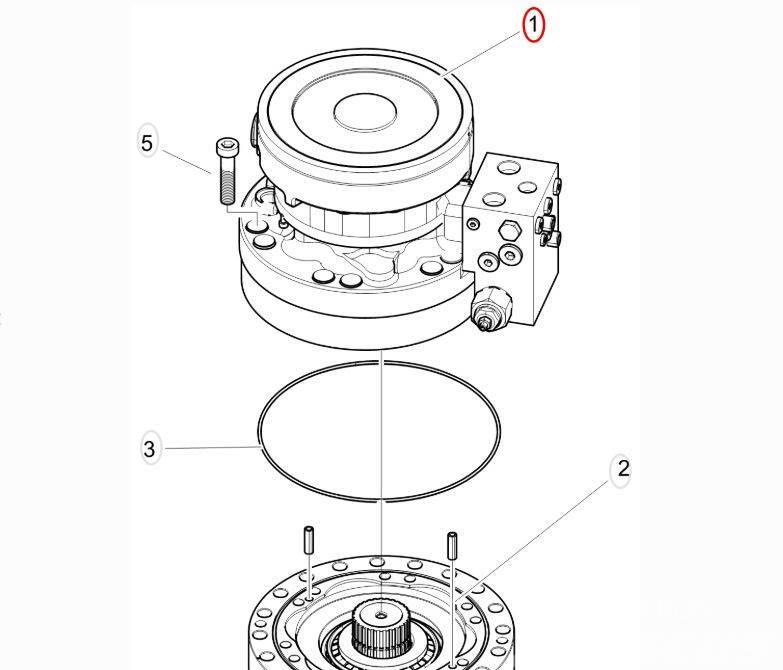 Komatsu Forest Гидравлический мотор поворота