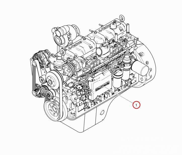 Komatsu Forest Двигатель 74-4V 179 kW