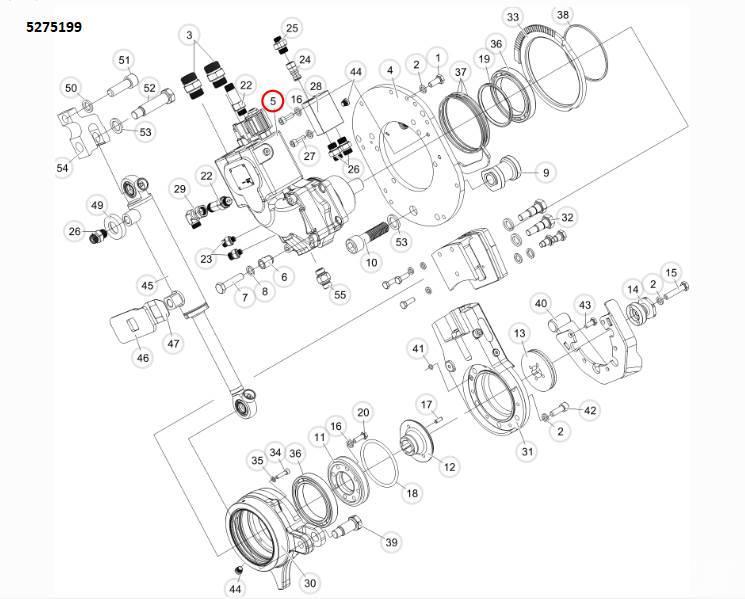Komatsu Forest Мотор пилы гидравлический, артикул: 5275199