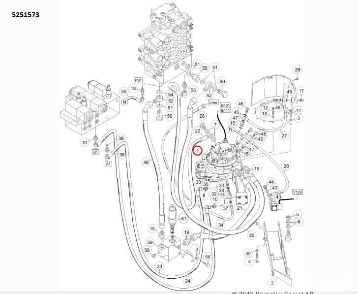 Komatsu Forest Устройство резки, артикул: 5251573