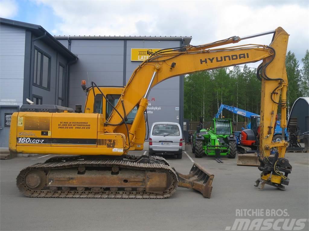Hyundai Robex 160LCD-7, 2006, Crawler Excavators ...