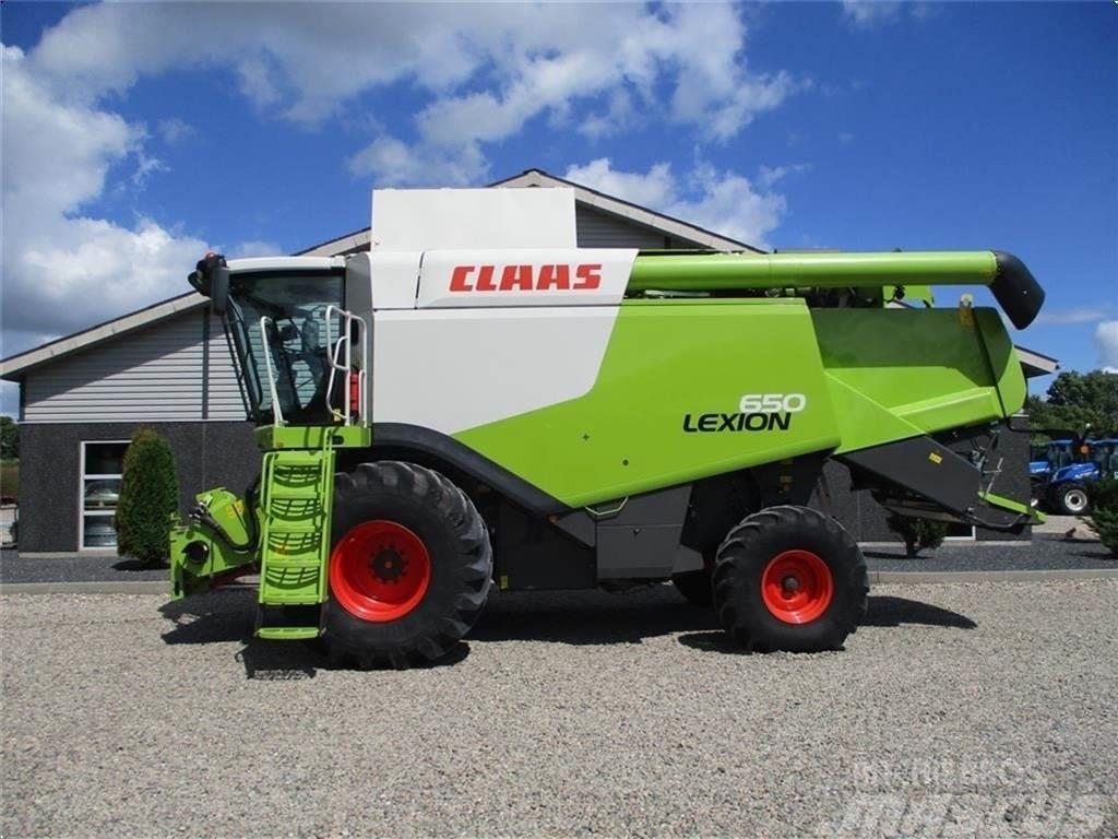 CLAAS LEXION 650 med et V660 skærebord til. Pæn og velho