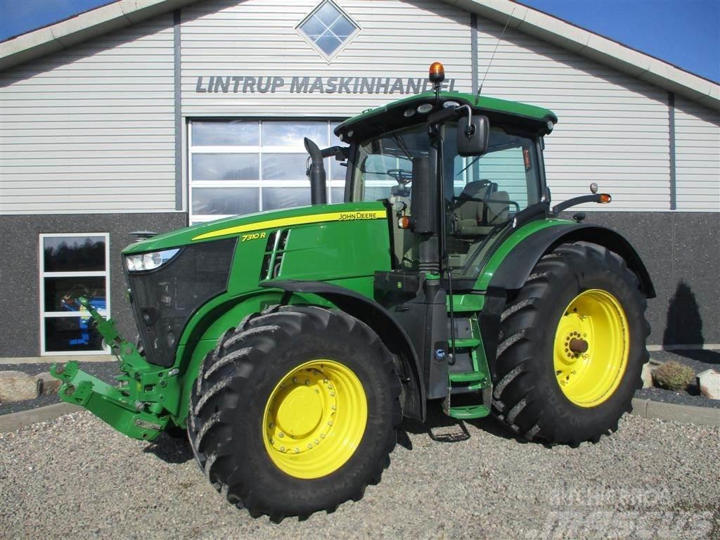 John Deere 7310R Kun 2831timer fra ny. DK traktor fra ny