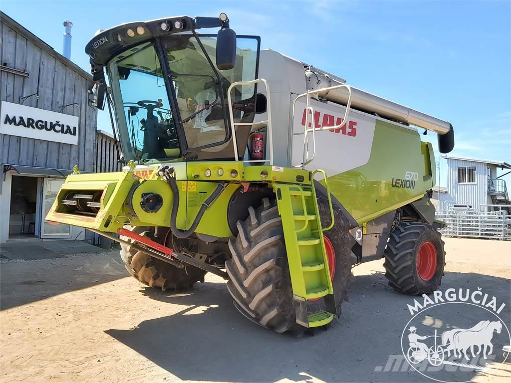 CLAAS Lexion 670, 7,5 m.