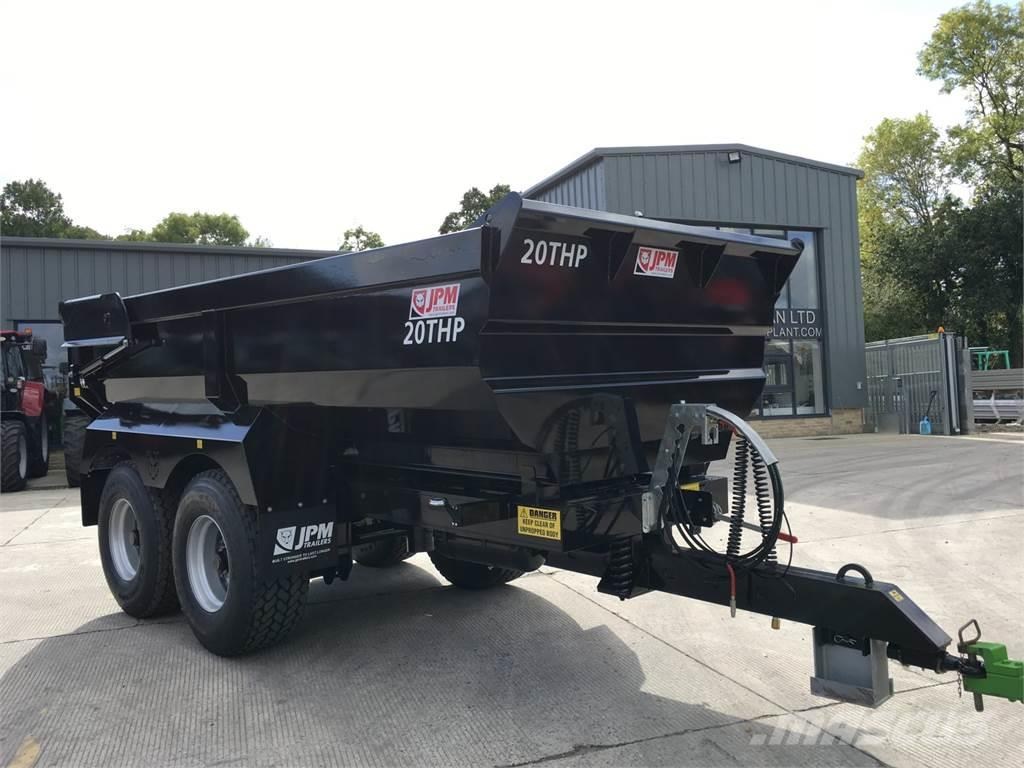 JPM Black 20 Tonne Half Pipe Dump Trailer