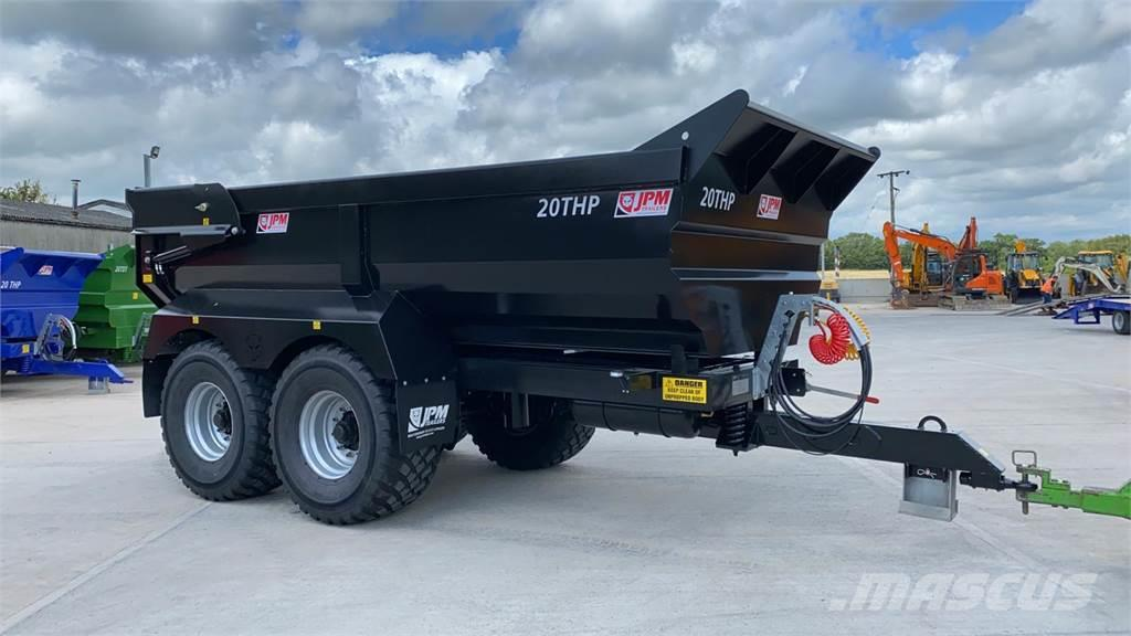 JPM Black 20 Tonne Half Pipe Dump Trailer (ST10688)