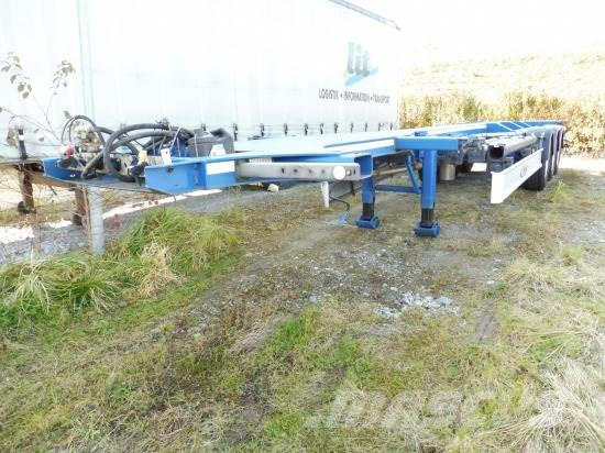 FLIEGL 40 FT CONTAINER KIPPCHASSIS UNFALL