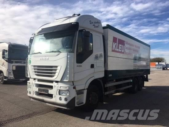 Iveco STRALIS 430 GETRÄNKE-KOFFER, LADEBORDWAND