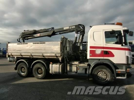 Scania R124GB 6X4 KIPPER, MANUAL RETARDER