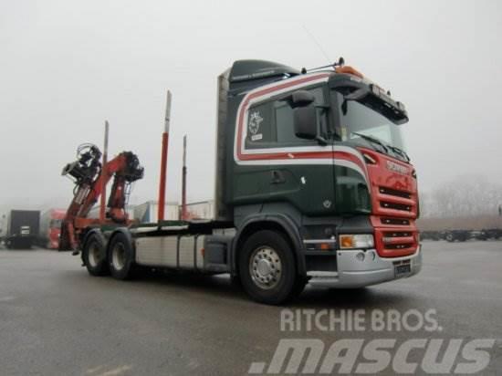 Scania R580 V8 6X4 HECKKRAN PENZ 9200 SHL