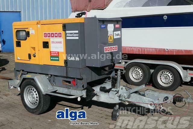 Atlas Copco QAS 20/Strom Generator/20 KVA/Anhänger