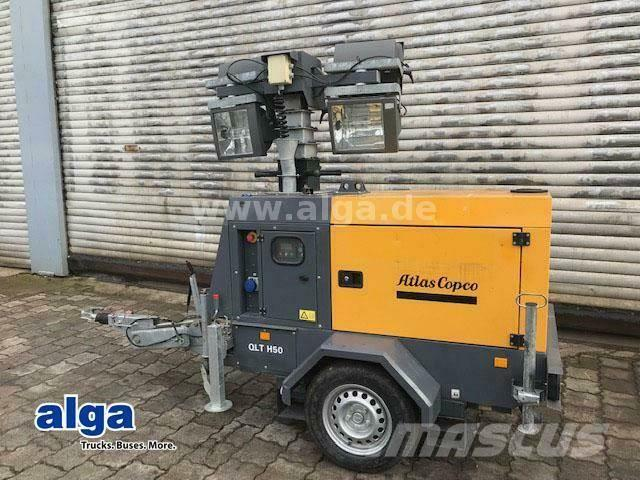 Atlas Copco QLT H50/Lichtgiraffe/Generator/4x1000 Watt