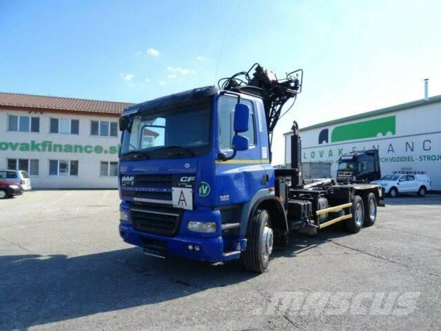 DAF CF85.460 for containers with crane 6x4,E4,vin973