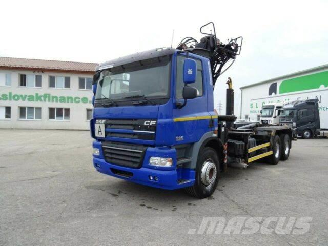DAF CF85.460for containers with crane 6x4,E4,vin 857