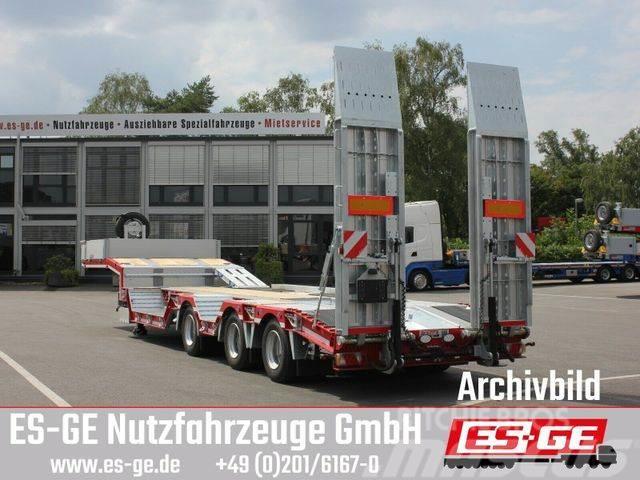 Es-ge 3-Achs-Satteltieflader mit Radmulden