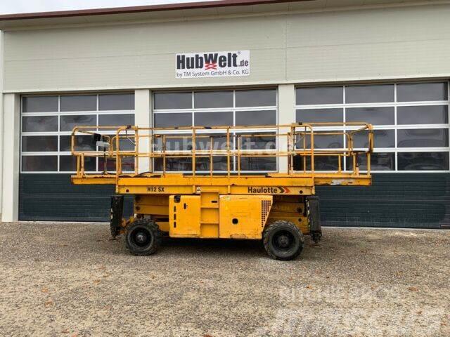 Haulotte H12SX - 12m Diesel Scherenbühne XL Plattform 6m!