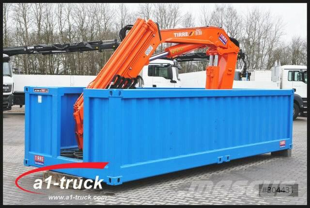 Hüffermann Container Elektro Kran Tirre 331 Funk, stationär