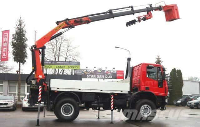 Iveco 140E18 4x4 PALFINGER PK 16502 DRILL Kran Cran