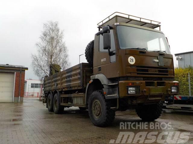 Iveco 260E37W 6x6 ex. Army, Kran, Winde, 79.788 Km !